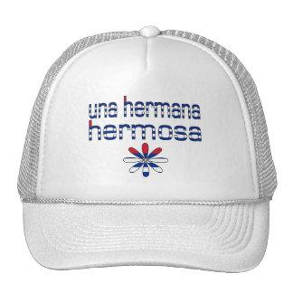Colores de la bandera de Una Hermana Hermosa Cuba Gorras De Camionero