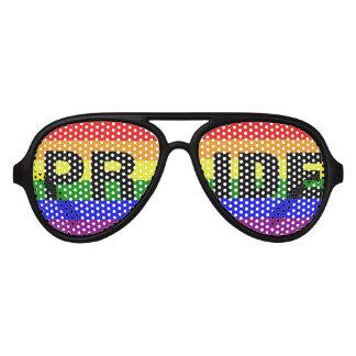 Colores de la bandera del arco iris del orgullo lentes de sol