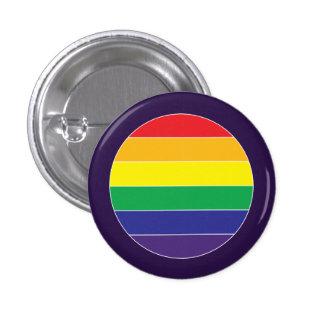 Colores de la bandera del arco iris del orgullo pin redondo de 1 pulgada