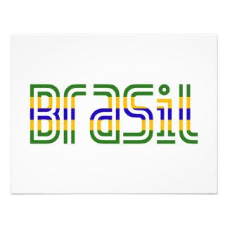 ¡Colores de la bandera del Brasil Comunicado Personal