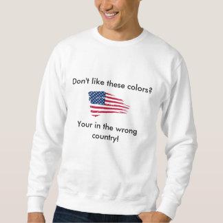 Colores de la bandera pulovers sudaderas