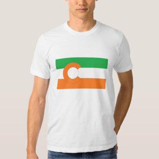 Colores de la bandera w/Irish del estado de Polera
