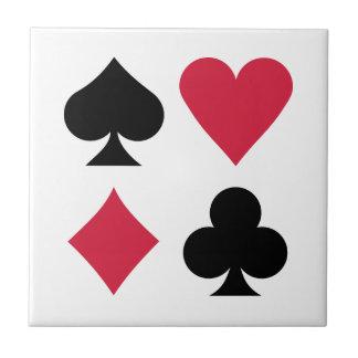 Colores de la baraja del póker tejas