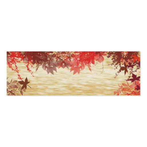 Colores de la caída: Acción de gracias Placecard Plantillas De Tarjeta De Negocio