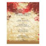 Colores de la caída: Borgoña y menú rojo del boda Tarjetas Informativas