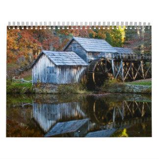 Colores de la caída calendario
