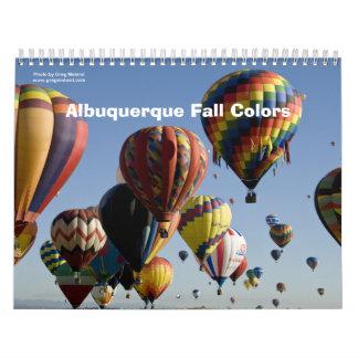 Colores de la caída de Albuquerque Calendarios