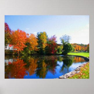 Colores de la caída del poster de la fotografía de