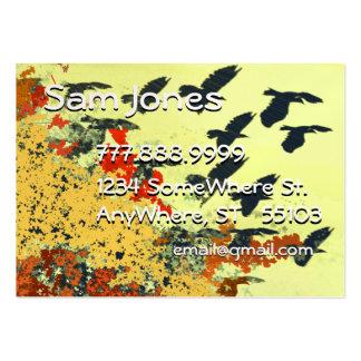 Colores de la caída del vuelo del pájaro tarjeta personal