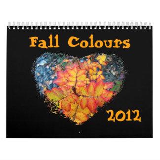 Colores de la caída del Yukón Calendario