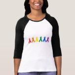 Colores de la cinta del orgullo gay camiseta