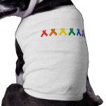 Colores de la cinta del orgullo gay ropa de mascota