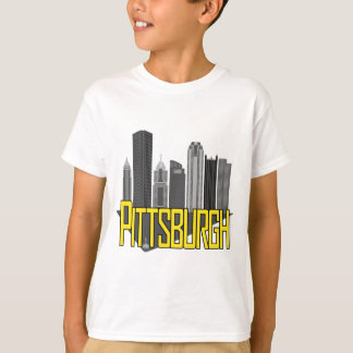 Colores de la ciudad de Pittsburgh Playera
