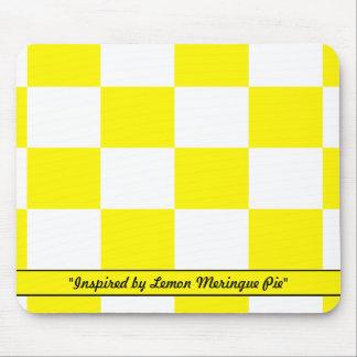 Colores de la empanada de merengue de limón tapete de ratón