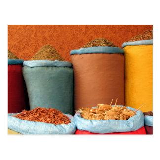 colores de la especia de Marrakesh Postal