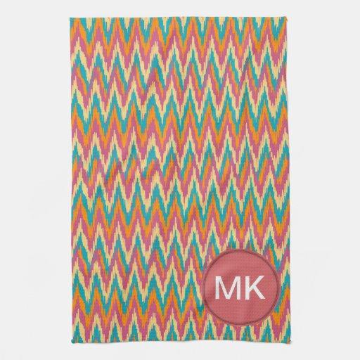 colores de la especia del diseño del zigzag del iK Toalla