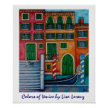 Colores de la impresión de la pintura de Venecia Posters