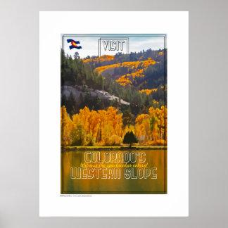 Colores de la inclinación occidental póster