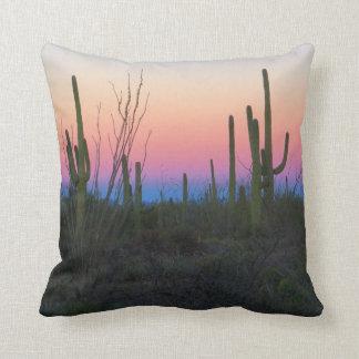 Colores de la mañana del desierto almohada