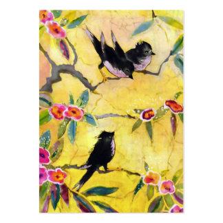 Colores de la mañana: Pintura del pájaro en amaril Plantilla De Tarjeta Personal