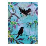 Colores de la mañana: Pintura del pájaro en turque Plantillas De Tarjeta De Negocio
