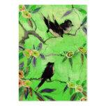 Colores de la mañana: Pintura del pájaro en verde  Tarjetas De Negocios