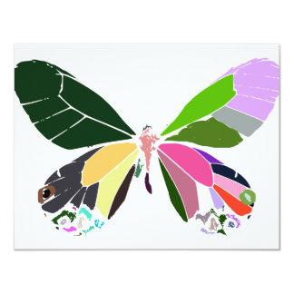 colores de la mariposa invitación 10,8 x 13,9 cm