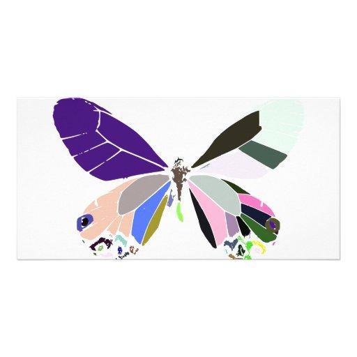 colores de la mariposa tarjeta fotografica personalizada