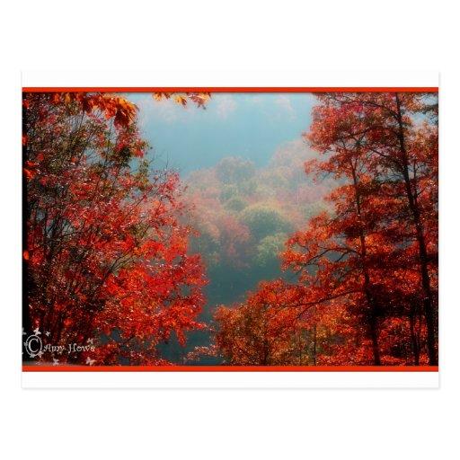 colores de la montaña tarjetas postales