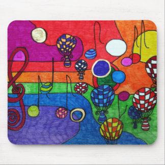 Colores de la música Mousepad Tapetes De Raton
