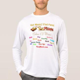 Colores de la música tee shirt