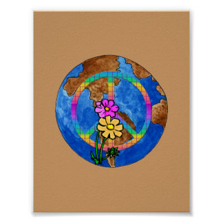 Colores de la paz de mundo posters