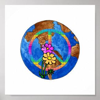 Colores de la paz de mundo impresiones