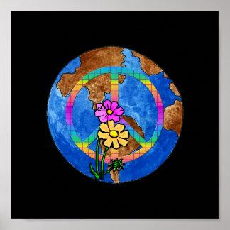 Colores de la paz de mundo poster