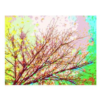 Colores de la pintura de Digitaces de las ramas de Tarjeta Postal