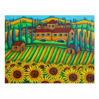 Colores de la postal de Toscana