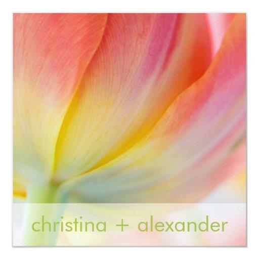Colores de la primavera • Invitación del boda