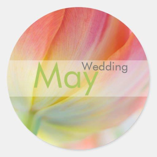 Colores de la primavera • Pegatina del boda de