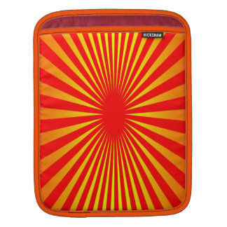 Colores de la puesta del sol mangas de iPad