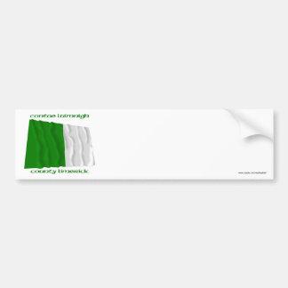 Colores de la quintilla del condado etiqueta de parachoque