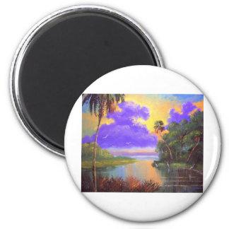 Colores de la selva virgen de la Florida Imán Redondo 5 Cm