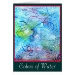 Colores de la tarjeta del agua