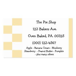 Colores de la tarta de crema del plátano plantilla de tarjeta de visita