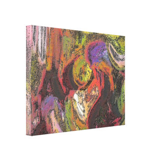 Colores de la tierra lona envuelta para galerias