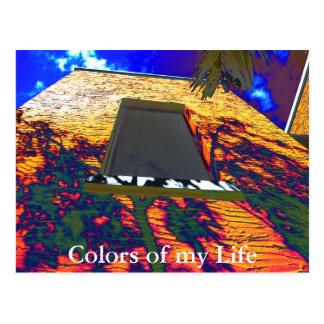Colores de la ventana, colores de mi vida postal