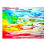 Colores de la vida tarjeta postal