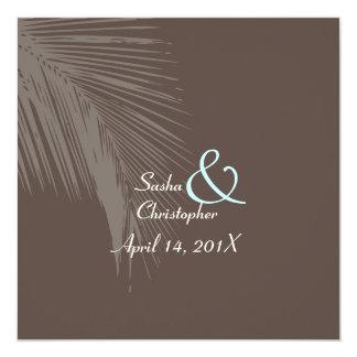 """Colores de las frondas silhouette/DIY de la palma Invitación 5.25"""" X 5.25"""""""