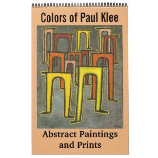 Colores de las pinturas y de las impresiones calendario