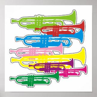 Colores de las trompetas póster