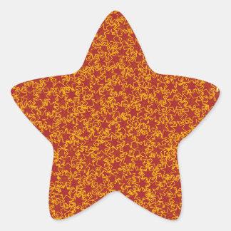 Colores de los deportes del espíritu de equipo de calcomanía forma de estrella personalizada